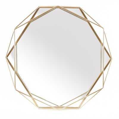 Metal Octogonal Gold Frame Wall Mirror - Wayfair