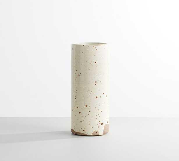 """Terra Cotta Speckled Vase, White, Medium, 10""""H - Pottery Barn"""
