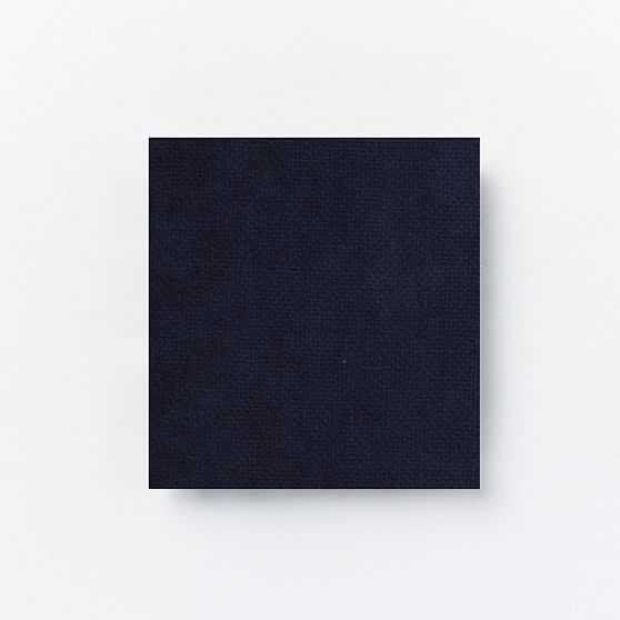 Lottie Chair, Poly, Distressed Velvet, Ink Blue, Dark Pewter - West Elm