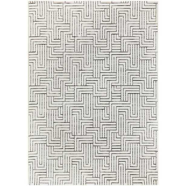 Hampton Bay Maze Cream 8 ft. x 10 ft. Global Indoor/Outdoor Area Rug, Ivory - Home Depot