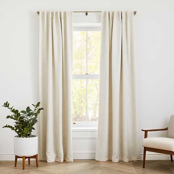 """Crossweave Curtain with Black Out Natural Canvas 48""""x96"""" - West Elm"""