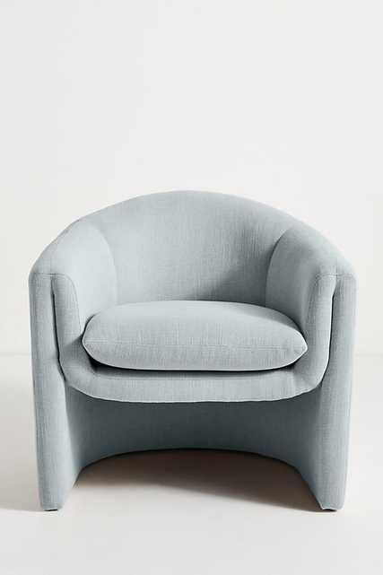 Linen Sculptural Chair By Anthropologie in Blue - Anthropologie