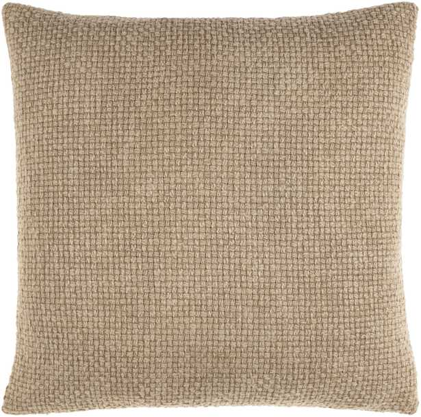 Washed Texture 18x18 Pillow with Poly Insert - Neva Home
