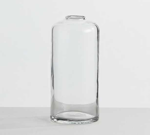 "Skylar Glass Bottle Vase, Clear, 6""H - Pottery Barn"