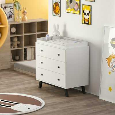 Baby Changing Table Dresser With Metal Legs - Wayfair