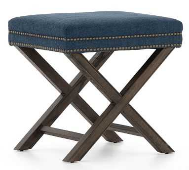 Aldrich Upholstered Accent Stool - Pottery Barn