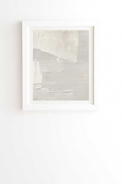 """Framed Wall Art White, Relief 1, 8"""" x 9.5"""" - Wander Print Co."""