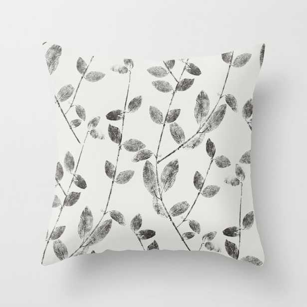 """Vine Leaf In Black And White Couch Throw Pillow by Becky Bailey - Cover (20"""" x 20"""") with pillow insert - Outdoor Pillow - Society6"""