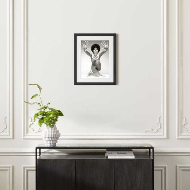 """Diana Ross Reaching Out With Black Frame 21.5""""x17.5"""" - CB2"""