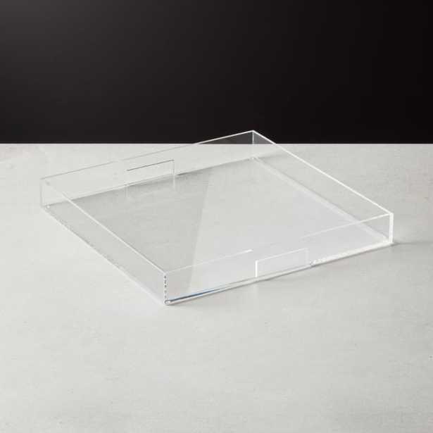 Acrylic Clear Tray 16x16 - CB2