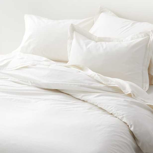 Mellow Pearl Organic Cotton King Duvet Cover - Crate and Barrel