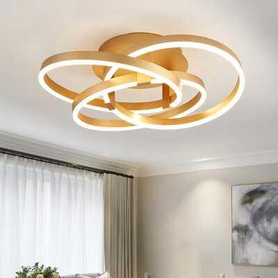 """Kroh 1 - Light 23.6"""" LED Semi Flush Mount - Wayfair"""
