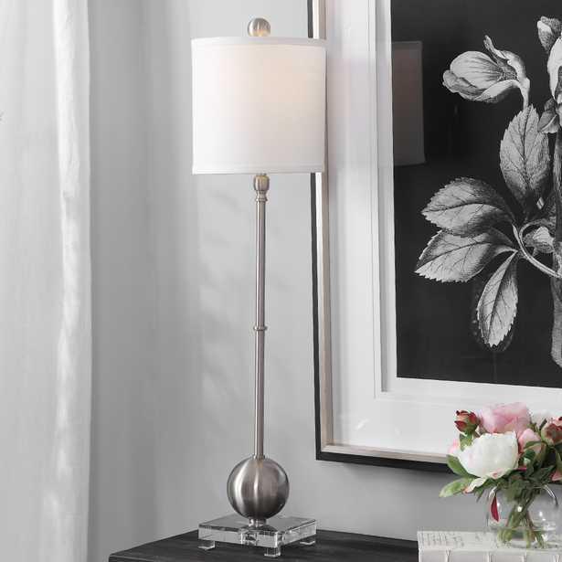 Laton Silver Buffet Lamp - Hudsonhill Foundry