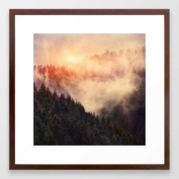 In My Other World Framed Art Print by Tordis Kayma - Conservation Walnut - MEDIUM (Gallery)-22x22 - Society6