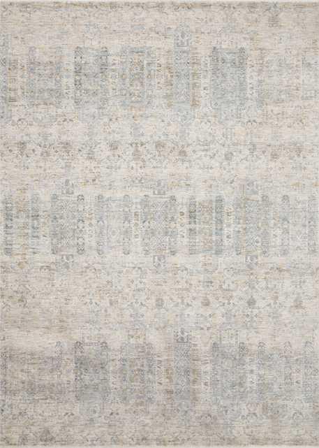 "Pandora Rug, 7'10"" x 10', Ivory & Powder Blue - Loma Threads"