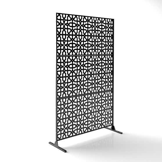 Decorative Privacy Screen, Parilla, Black - West Elm