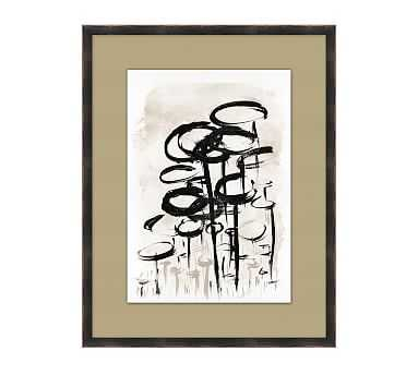 """Nature Abstract 3 Framed Matted Print, 21.25"""" x 27.25"""" - Pottery Barn"""
