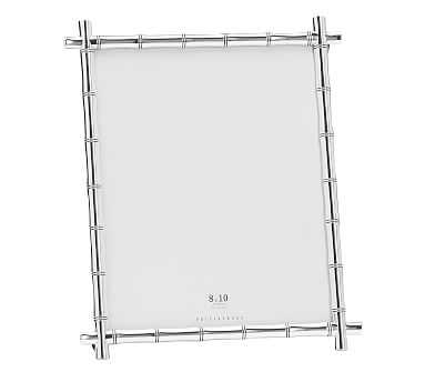 """Bamboo Picture Frame, Silver, 8"""" x 10"""" - Pottery Barn"""