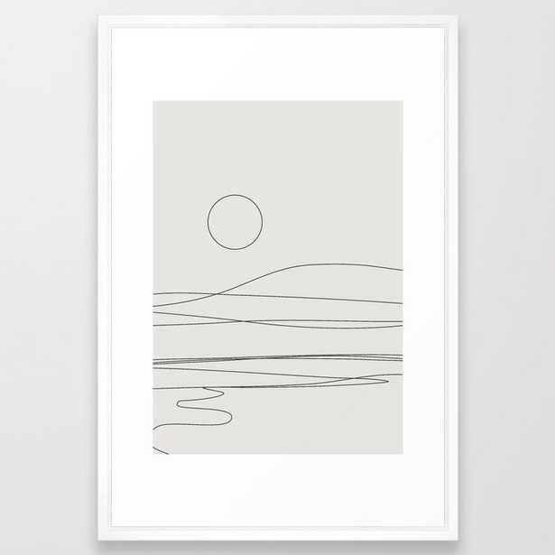 Abstract Landscape 15c Framed Art Print by The Old Art Studio - Vector White - LARGE (Gallery)-26x38 - Society6