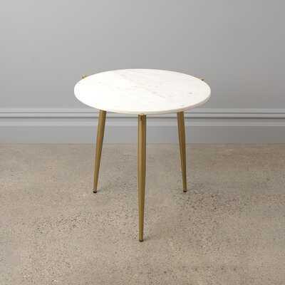 Northtrop Marble Top 3 Legs End Table - Wayfair