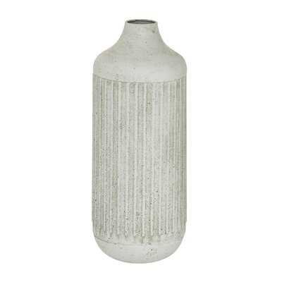 White Metal Contemporary Style Vase, 17 X 7 X 7 - Wayfair