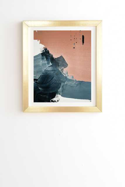 "Renew A Minimal Abstract Piece by Alyssa Hamilton Art - Framed Wall Art Basic Gold 19"" x 22.4"" - Wander Print Co."