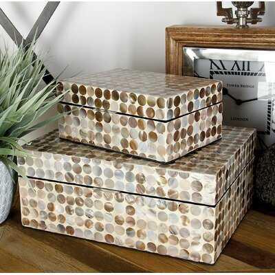 Chichica Mother Of Pearl Inlay 2 Piece Decorative Box Set - Birch Lane