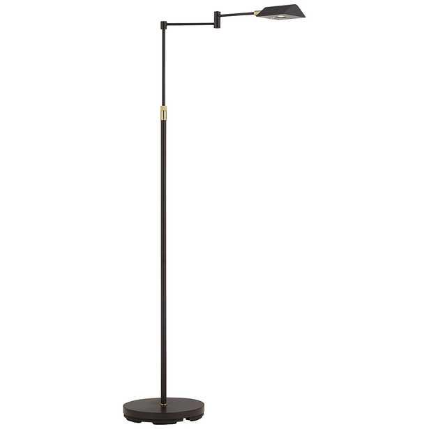 Zema Bronze Pharmacy Swing Arm LED Floor Lamp - Style # 96J26 - Lamps Plus