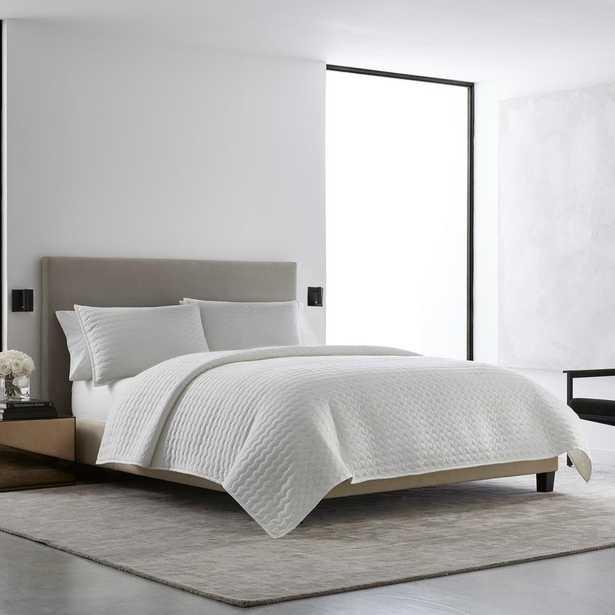 VERA WANG Herringbone Stitch White Cotton 3-Piece Queen Quilt Set - Home Depot