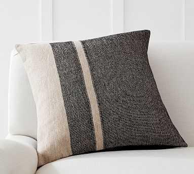 "Kimana Striped Pillow Cover, 20 x 20"", Charcoal Multi - Pottery Barn"