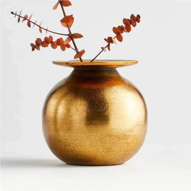 Sundown Metal Vase - Crate and Barrel