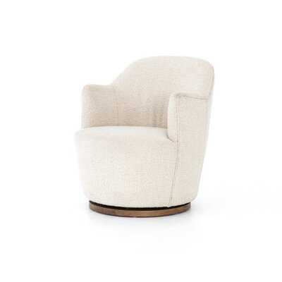 "26"" Wide Polyester Swivel Armchair - Wayfair"