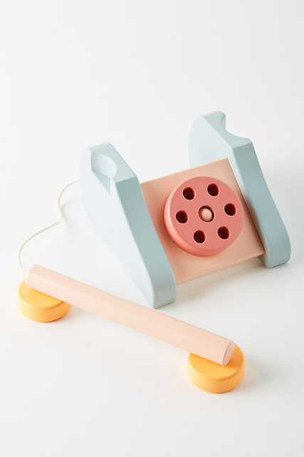 Wooden Telephone Toy By Anthropologie in Assorted - Anthropologie
