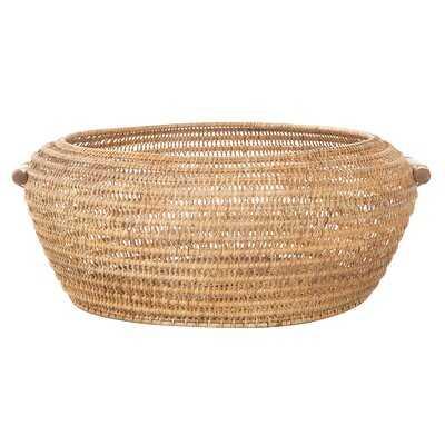 Open Weave Storage Rattan Basket - Wayfair