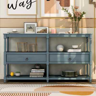 57.9'' Console Table With Storage Shelf - Wayfair