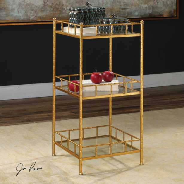 Tilly Gold Accent Shelf Table - Hudsonhill Foundry