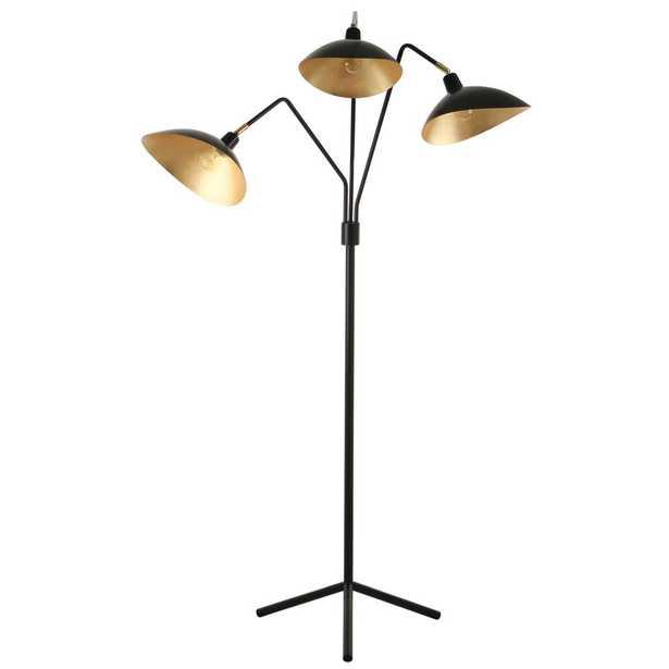 Safavieh Iris 69.5 in. Black Floor Lamp - Home Depot