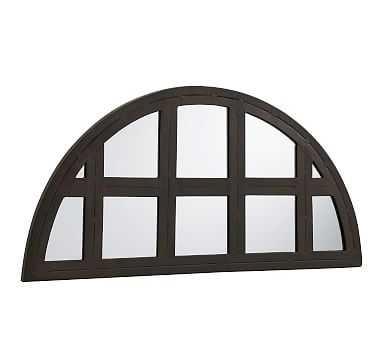 "Grid Arch Mirror, Bronze, 15.5"" x 31"" - Pottery Barn"
