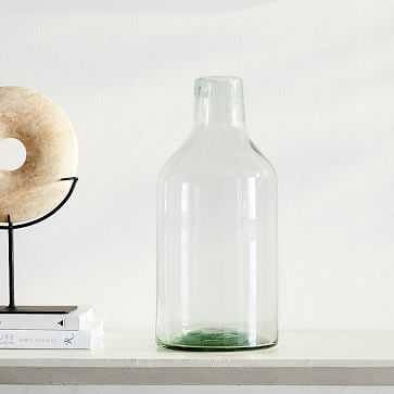 Pure Glass Vase, Jug, Clear, One Size - West Elm