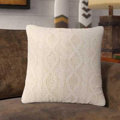 Runyon Cable Knit Throw Pillow - Wayfair