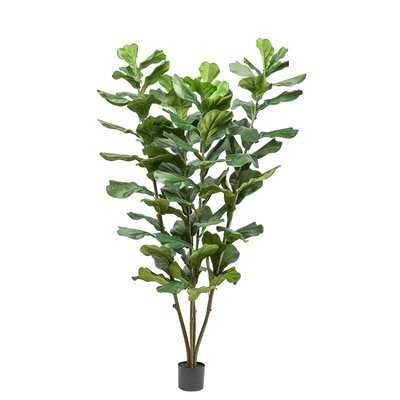 "72"" Artificial Fiddle Leaf Fig Tree - Wayfair"