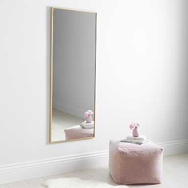 Metal Framed Full Length Mirror, Brass - Pottery Barn Teen