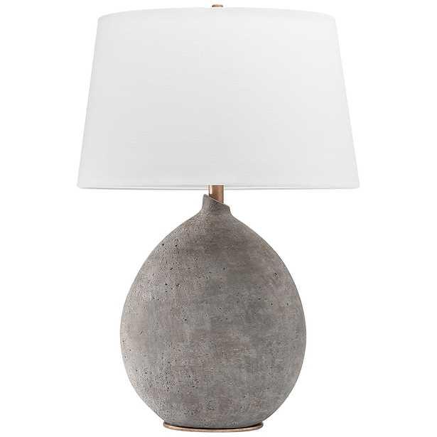 Hudson Valley Denali Gray Ceramic Table Lamp - Style # 80R96 - Lamps Plus