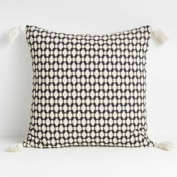 """Tahona 23"""" Obsidian Textured Pillow Cover - Crate and Barrel"""