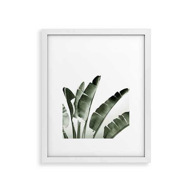 """Traveler Palm by Gale Switzer - Modern Framed Art Print White 16"""" x 20"""" - Roam Common"""