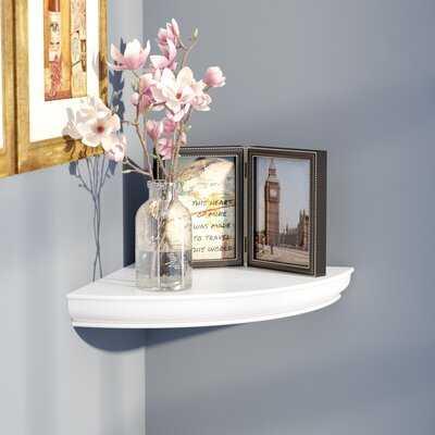 Georgiana Floating Corner Shelf - Wayfair