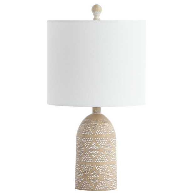 Safavieh Nava 18.5 in. Brown Table Lamp - Home Depot