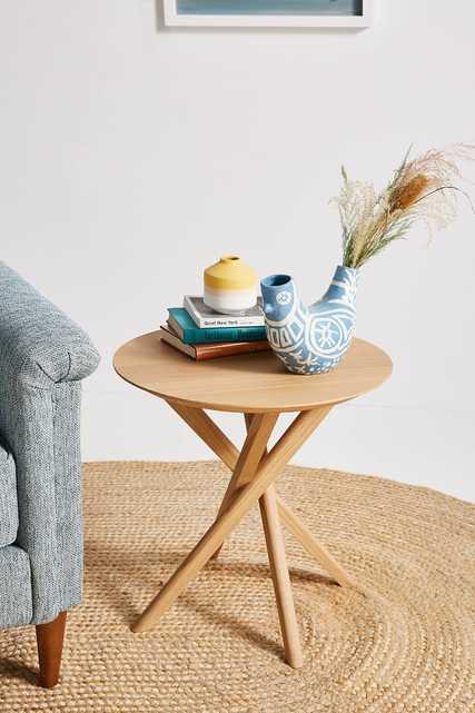 Oak Mikado Side Table - Anthropologie