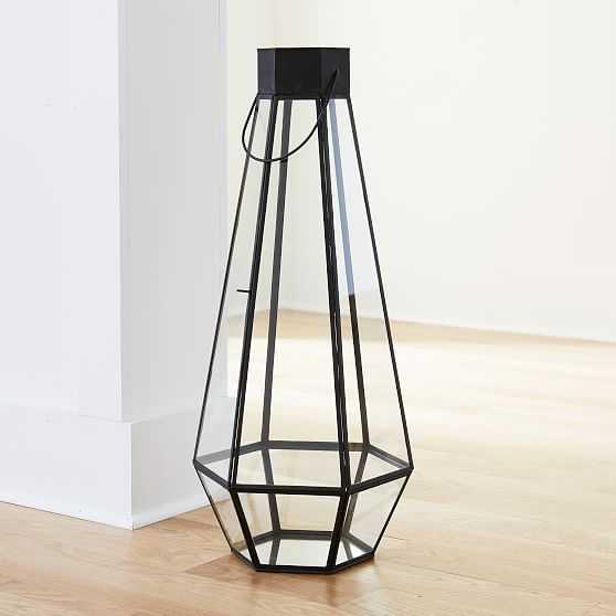 Faceted Lantern, Extra Large, Antique Bronze - West Elm