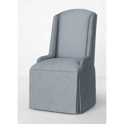 Avignon Petite Upholstered Wing Back Skirted Arm Chair - Wayfair